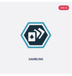 two color gambling icon from signs concept vector image