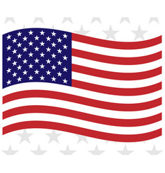 us flag background vector image
