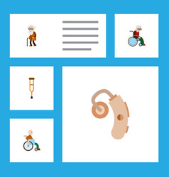flat icon disabled set of wheelchair ancestor vector image vector image
