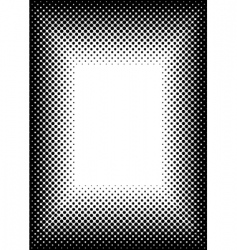 halftone picture frame vector image vector image