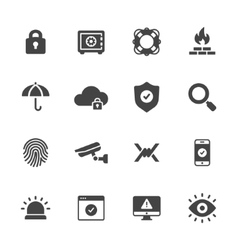 Protection and Security Icons vector image vector image