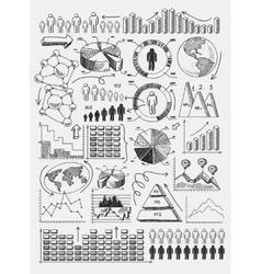 Sketch diagrams infographics vector image vector image