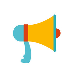 white background with colorful megaphone vector image vector image