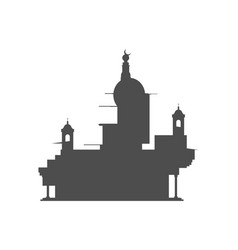 abstract temple silhouette vector image