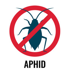 anti-aphid emblem with circle and line vector image vector image