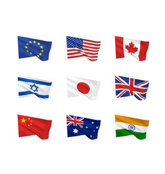 flags vector image