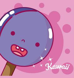 ice cream kawaii cute cartoon vector image
