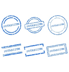 Potassium stamps vector image vector image