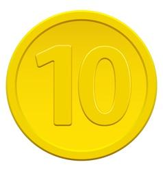 Ten coin vector image vector image