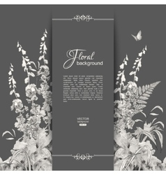 Floral Romantic Card vector image