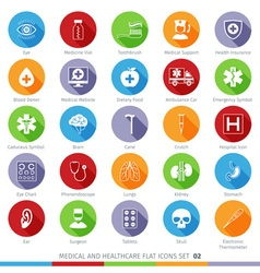 Medical Icons Set 02F vector image