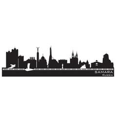 Samara Russia city skyline Detailed silhouette vector image vector image