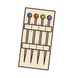 sewing pins isolated icon vector image