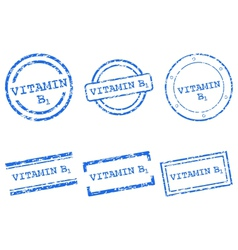 Vitamin B1 stamps vector image vector image