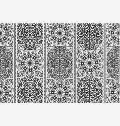 black and white ancient vintage seamless vector image vector image