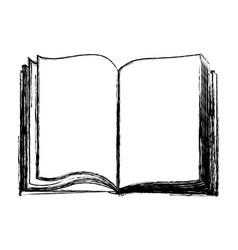Blurred silhouette closeup open book icon vector