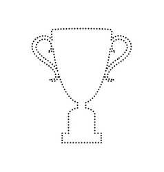 champions cup sign black dotted icon on vector image