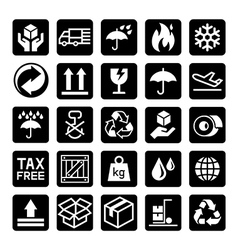 delivery icons3 vector image vector image