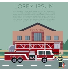 Fire Station Banner5 vector image vector image