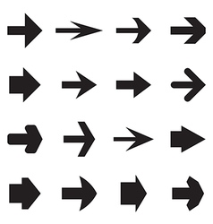 Right arrows vector image