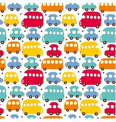 seamless pattern car vector image