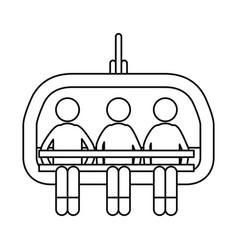 ski lift chairs vector image