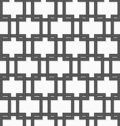 3D gray interlocking squares vector