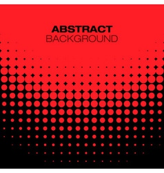 Abstract Black Red Halftone Background vector image