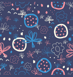 Abstract seamless doodle pattern hand vector