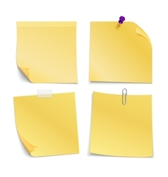 Adhesive blank notes stick with pin clip and vector