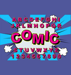 alphabet comic vector image
