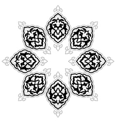 Artistic ottoman pattern series fourteen vector