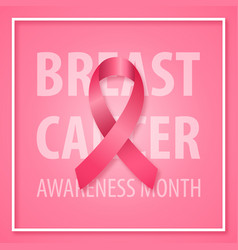 banner for breast cancer awareness month pink vector image