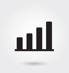 bar chart icons glyph icon for any purposes vector image