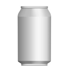 Beer tin can mockup realistic style vector