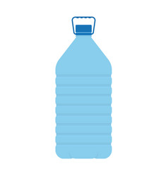 big plastic water bottle isolated on white vector image