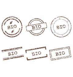 Bio stamps vector image