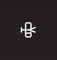 Bk initial letter overlapping interlock logo vector