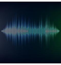 Blue sound wave on blackbackground EPS10 vector