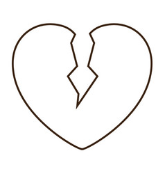 Broken heart icon vector
