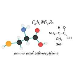 C3H7NO2Se selenocysteine amino acid molecule vector image