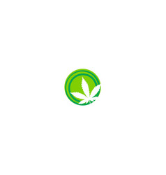cannabis leaf sign logo vector image