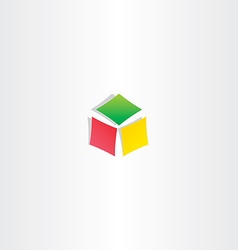 color cube box icon logotype design vector image