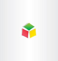 Color cube box icon logotype design vector