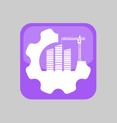 construction application icon vector image