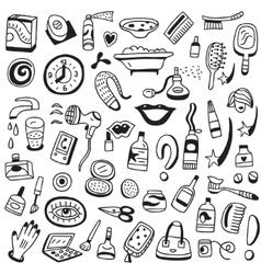 Cosmetic doodles vector