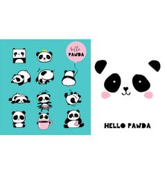 cute panda bear vector image