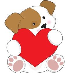 cute puppy valentine vector image vector image