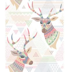 deers pattern vector image