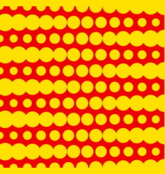 Duotone dotted pattern with circles in rows in vector